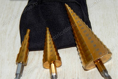 Ступенчатое сверло по металлу из Китая – обзор и тест драйв