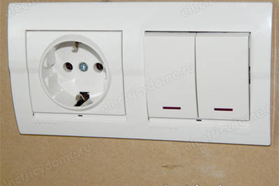 Розетка с выключателем в одном корпусе
