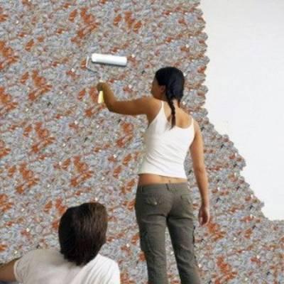 Отделка стен жидкими обоями: подготовка, приготовление, нанесение