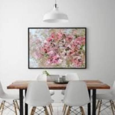 Картины с цветами в интерьере