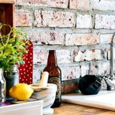 Декоративный кирпич в интерьере | фото, идеи