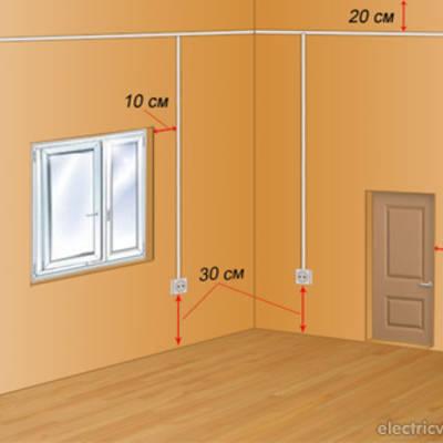 Расположение розеток и выключателей освещения