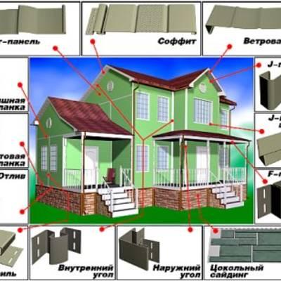 Отделка, обшивка стен дома виниловым сайдингом