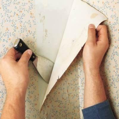 Очистка стен от обоев: обзор методов и хитростей
