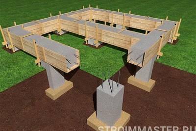 Как строить столбчатый фундамент