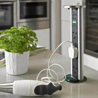 Особенности розеток, встраиваемых в кухонную мебель