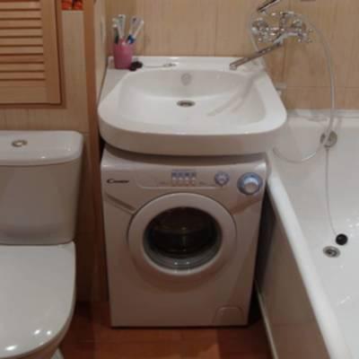 Установка раковины над стиральной машиной своими руками